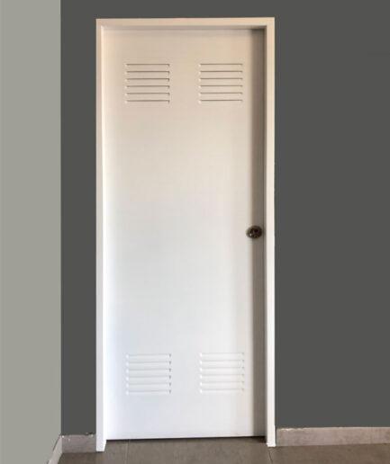 Puerta de trastero blanca 82x202 cm.